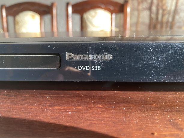 DVD CD DIVX S38 Panasonic uszkodzony, pilot
