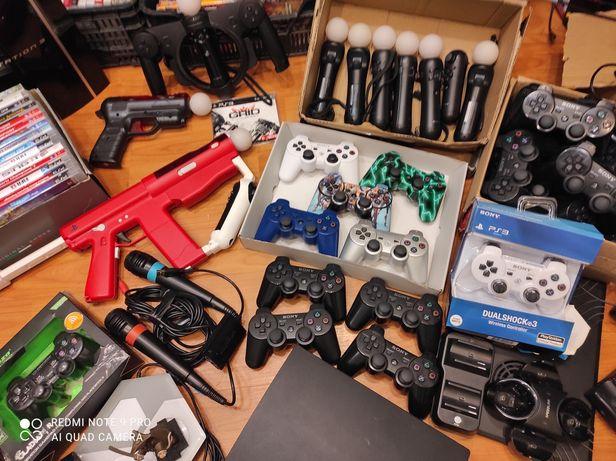 Pady Dualshock 3 kontrolery move gry asortyment PlayStation ps3 ps eye