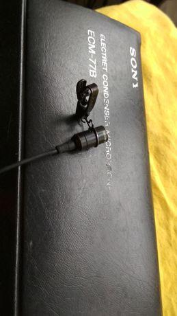 Sony mikrofon krawatowy lavalier klips do wywiadu ecm 77B