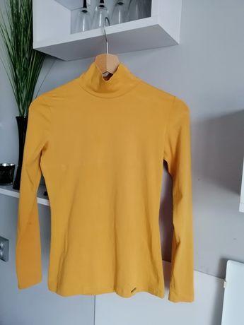 Nowa bluzka golf kolor musztardowy miodowy