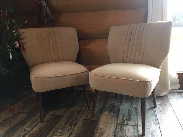 Fotele patyczak rodem z PRL, nowa tapicerka