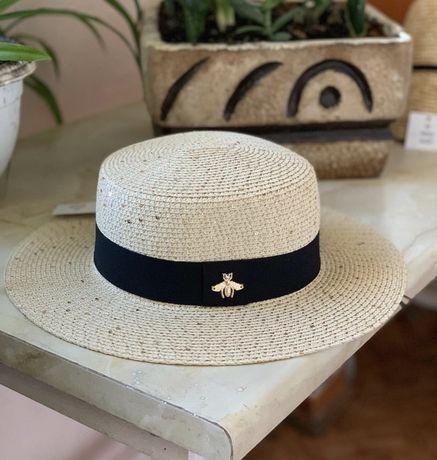 Шляпа канотье в стиле gucci
