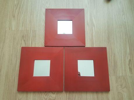 3 Espelhos NOVOS Vermelhos Ikea (25,5x25,5cm)