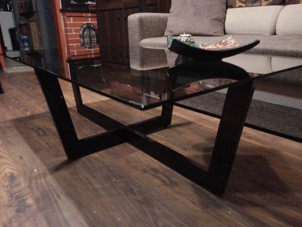 Fantastyczny nowoczesny stół kawowy -szklany przyciemniany blat