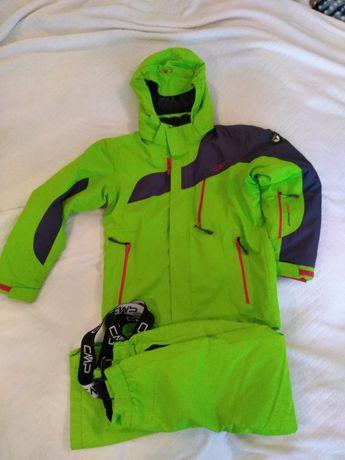 Kurtka i spodnie narciarskie chłopięce komplet, 10 lat