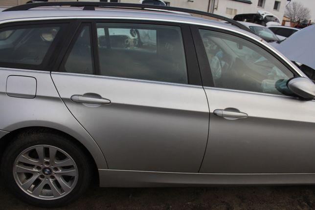 Drzwi prawy tył BMW E91 rok 2008, kod l. Titansilber Metallic 354/7