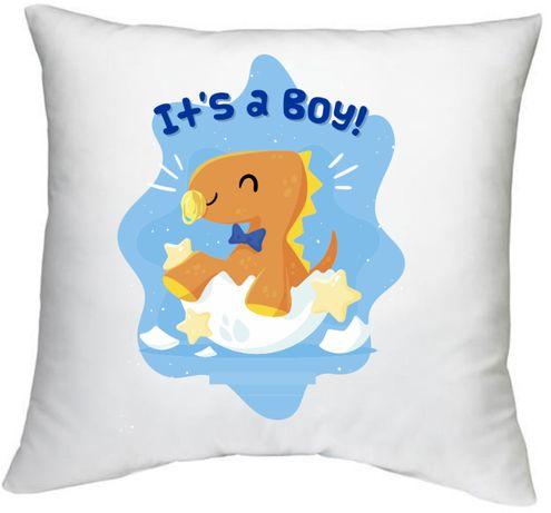 Poduszka z nadrukiem baby shower baby boy prezent dla dziecka