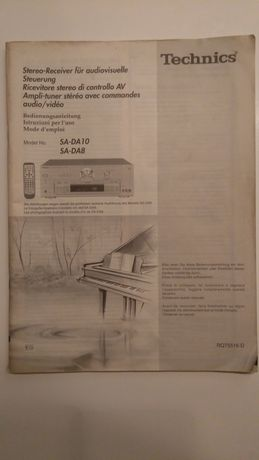 Oryginalna Instrukcja Technics SA-DA8/10 de, fr, it