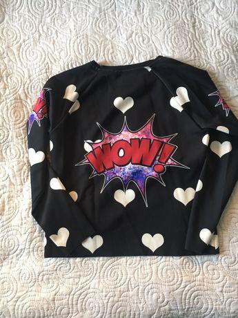 Bluza piankowa serca czarna rozmiar M