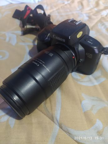 Canon EOS 750D analogica com lente 100-200