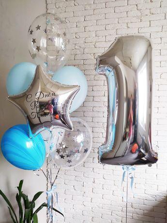 Гелиевые шары,шарики воздушные, цифра, латексные,фольгированные