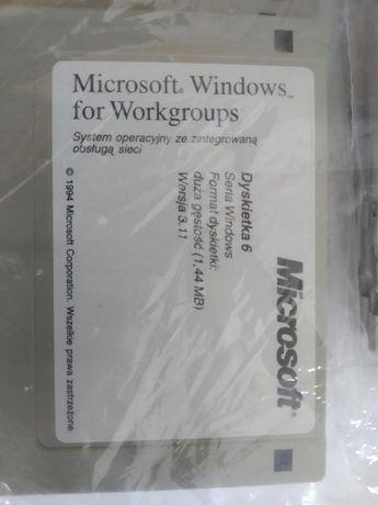 Microsoft Windows 3.11 Zapakowany Komplet 10 dyskietek