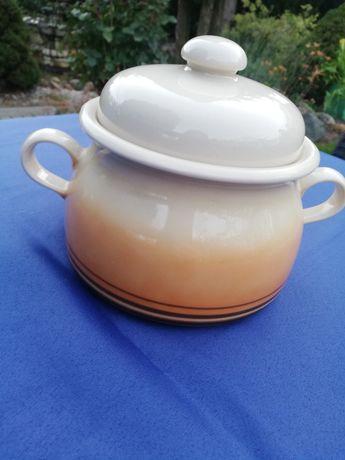 Garnek ceramiczny sygnowany