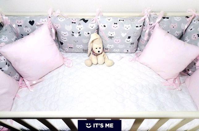 Детская защита в кроватку. Комплект, бортики, подушки