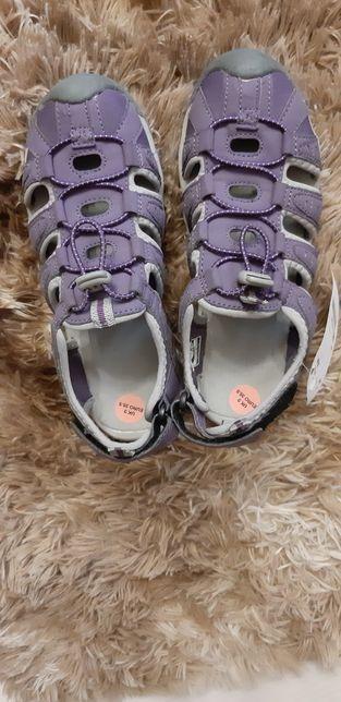Sandały damskie dziecięce trekkingowe fioletowe hi-tec rozm.35