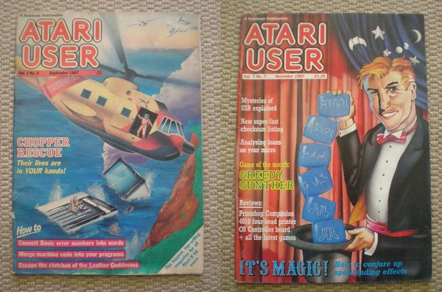 Revistas Atari User ano 87 ano 88