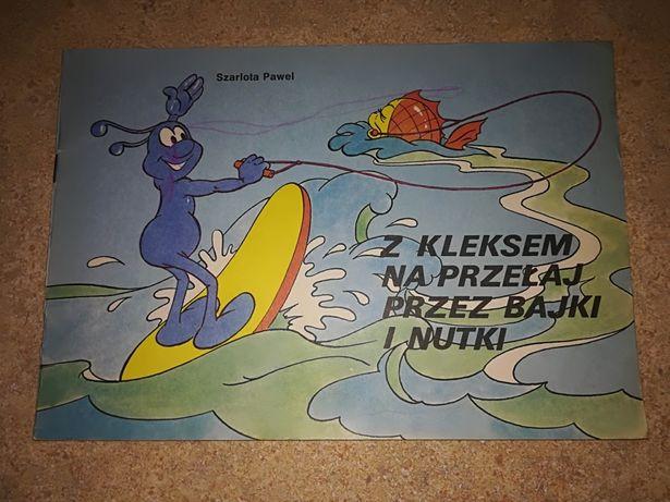 """Komiks z 1989r """"z kleksem na przełaj przez bajki i nutki"""",pióro kontr"""