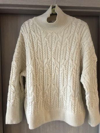 Zara sweter z dzianiny w warkocze  r M Stan idealny