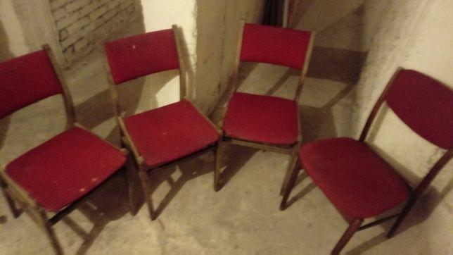 Krzesła tapicerowane PRL 100zł za 4szt.
