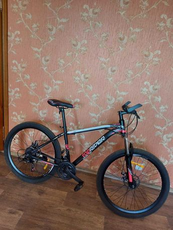 Toprider женский гоночный велосипед, розово-черный, почти новый