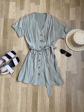 РАСПРОДАЖА Платье оливковое летнее новое