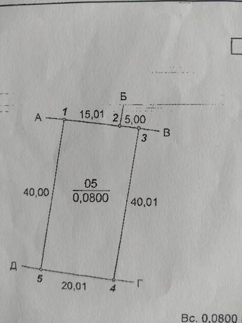 Участок 800 квадратных метров правильной формы