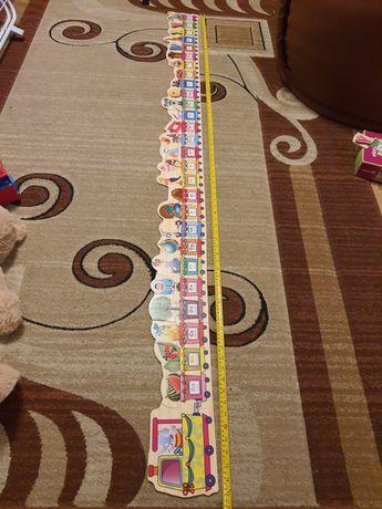 Puzzle drewniane alfabet prawie 2 metry stan bardzo dobry. Na prezent