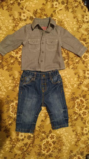 Продам джинсы и рубашку на мальчика