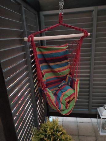 Hustawka ogrodowa kolorowa hamak brazylijski z poduszkami