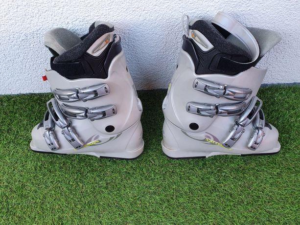 Buty narciarskie Salomon, damskie, szare buty, mocowania narciarskie
