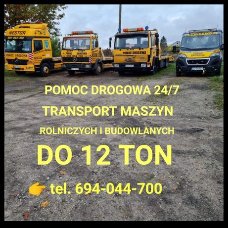 POMOC DROGOWA 24h ,transport maszyn do 12 ton