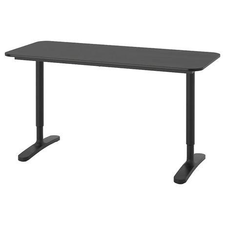 Secretária IKEA BEKANT (140x60, cor preta)