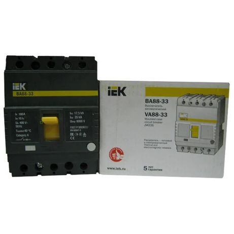 выключатель ВА88-33 3р 160А 35кА IEK