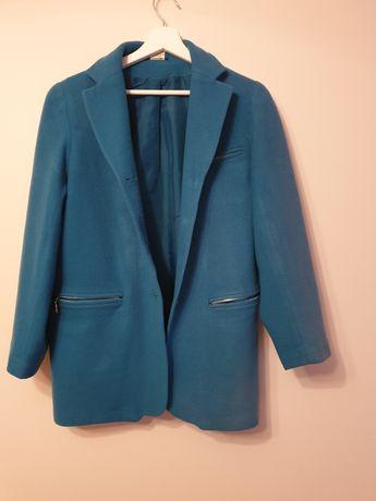 Plaszcz płaszczyk niebieski jesienny rozmiar M kurtka