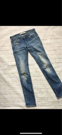 Wrangler spodnie XS dziury przetarcia