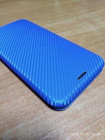 Карбоновый чехол-книжка с магнитом для iPhone 6, 6s Max новый