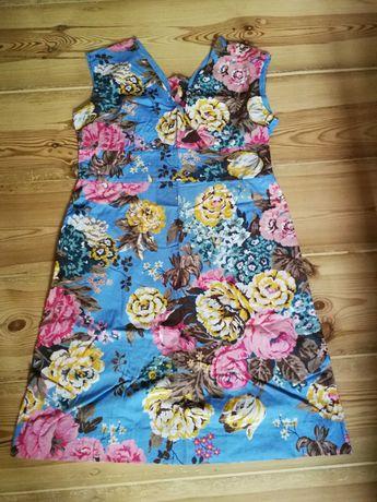 Elegancka sukienka ciążowa i do karmienia r 40-42 L