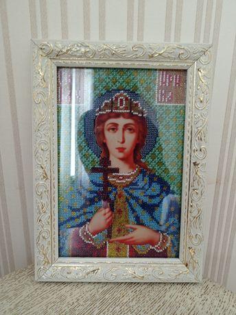 Картина Свята Ірина бісер