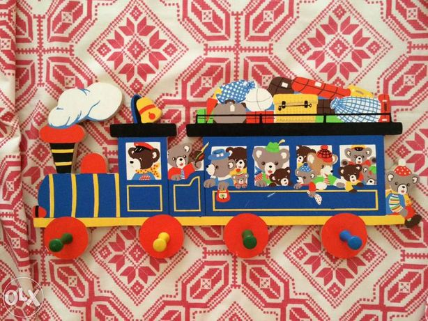 Cabide vintage para quarto de criança