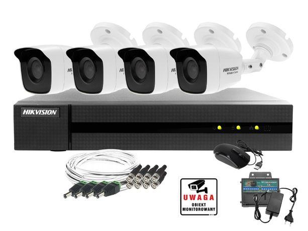 Zestaw do monitoringu Hikvision Hiwatch Rejestrator 4 kan. + 4 kamery