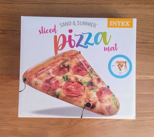 Materac INTEX pizza do pływania na basen - nowy 160 x 137 x 23cm