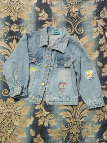 Джинсовая куртка на мальчика 4 лет