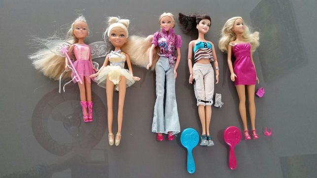 Lalki Barbie 5 szt i akcesoria tylko 80 zł za wszystko