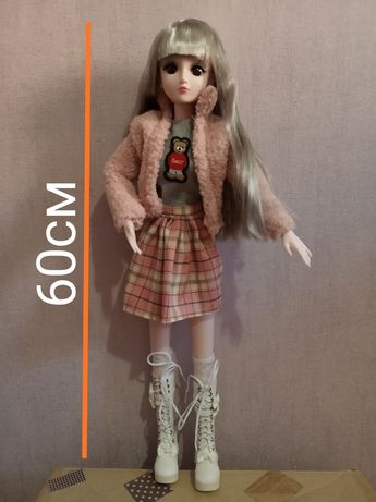 Лялька BJD 60 см з 20-рухомими суглобами (кукла)