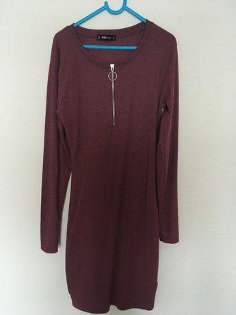 Burgundowa sukienka New yorker