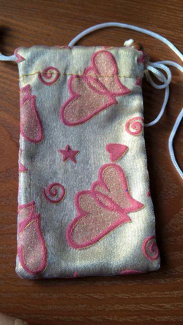 Bolsa telemóvel corações