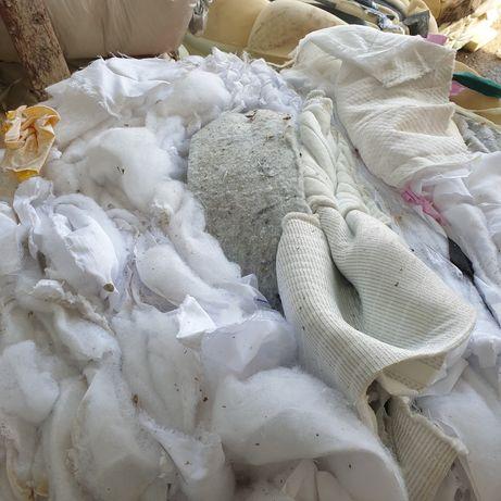 Zbelowane scinki tkanin