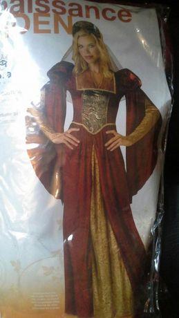 Renesansowy strój damski,przebranie karnawałowe,Halloween roz.M NOWY