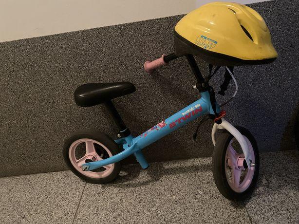 Rowerek biegowy btwin+kask