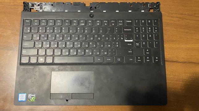 Верхняя крышка с клавиатурой, трекпадом от ноутбука lenovo legion y530